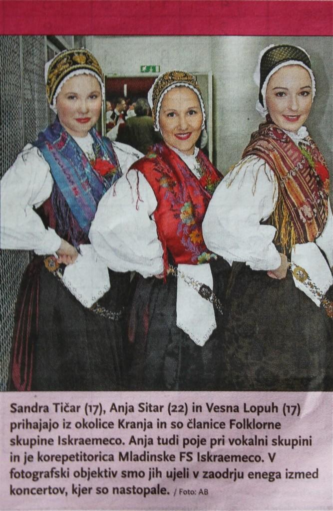 Sandra Tičar, Anja Sitar in Vesna Lopuh v Gorenjskem glasu